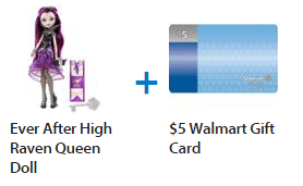 Purchase Select Ever After High Dolls & Get A Walmart Gift Card!
