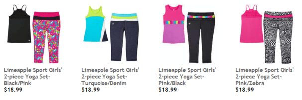 Limeapple active wear sets at Costco