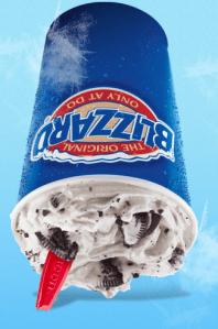 Oreo Blizzard #GetUpsideDown #IC