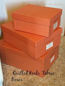 Get Organized with Fabric Boxes & Bins From Quilted Koala!