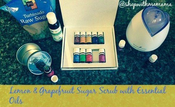 Lemon & Grapefruit Sugar Scrub with Essential Oils