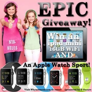 Win An Apple Watch Sport & iPad Mini & 12mo of Freedome®!