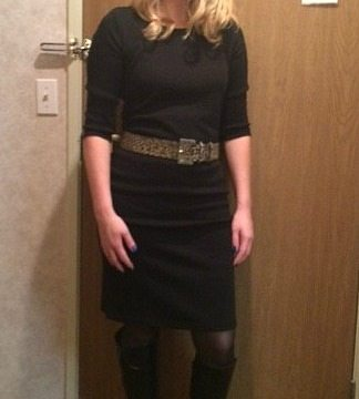 Comfortable Sweater Dress and Ruched Tall Boots From metrostyle!