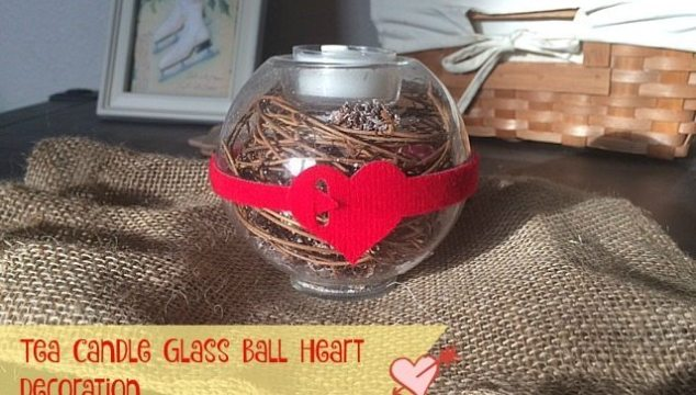 Tea Candle Glass Ball Heart Decoration For Your Home #DIY