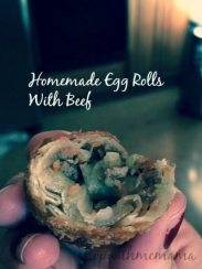 Homemade Egg Rolls With Beef Appetizers