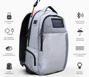 Solar Powered & Anti-Theft Backpack