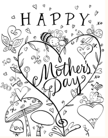Mother's Day Free Printable Coloring Pages