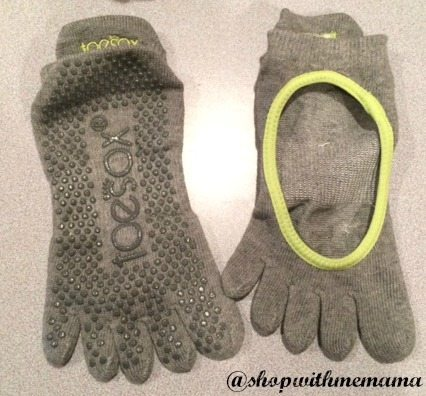 Grip Full Toe Bellarina Heather Grey/Limeaid toe socks