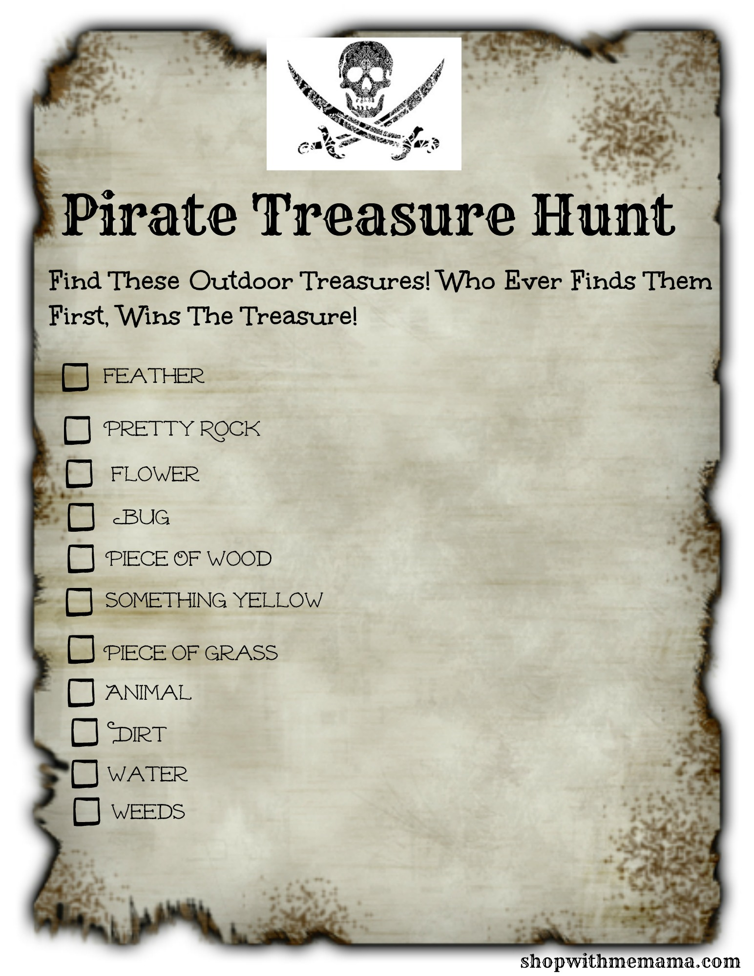Pirate Treasure Hunt For Kids Free Printables
