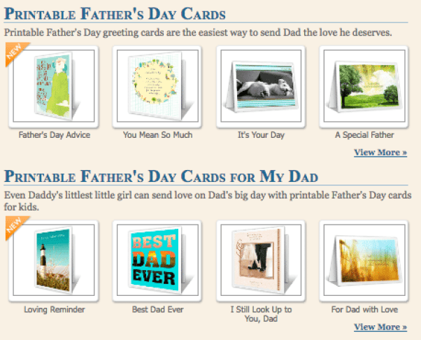 Father's Day Printable eCards