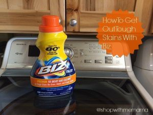 Real Life Example of Treating Difficult Stains With Biz