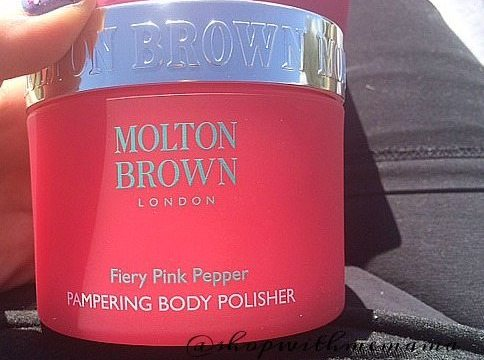 Molton Brown's Fiery Pink Pepper Pampering Body Polisher