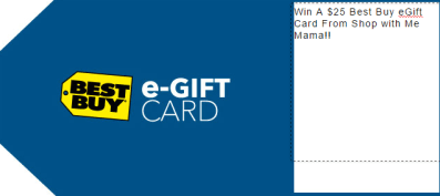 Win A $25 Best Buy eGift Card