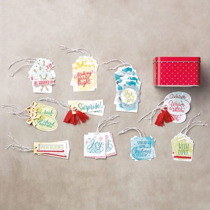 Tin of Tags Project Kit From Stampin Up