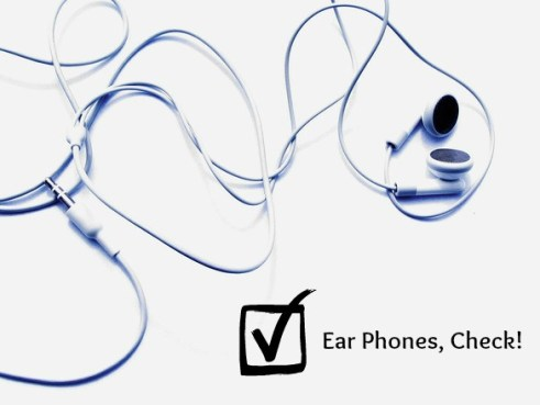 ear phones and music