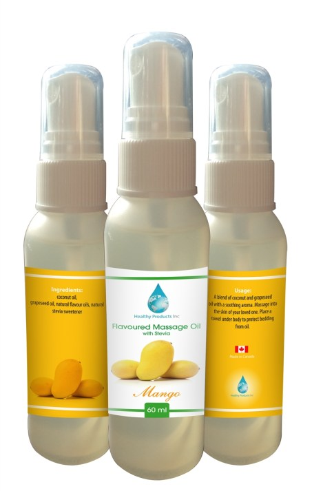 FLAVOURED ALL NATURAL MASSAGE OIL