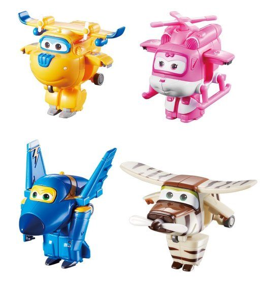 Super Wings - Transform-A-Bots 4 Pack - Donnie, Dizzy, Jerome & Bello
