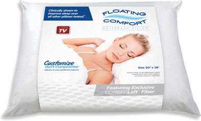 Sleep Better With Mediflow's Floating Comfort Pillow