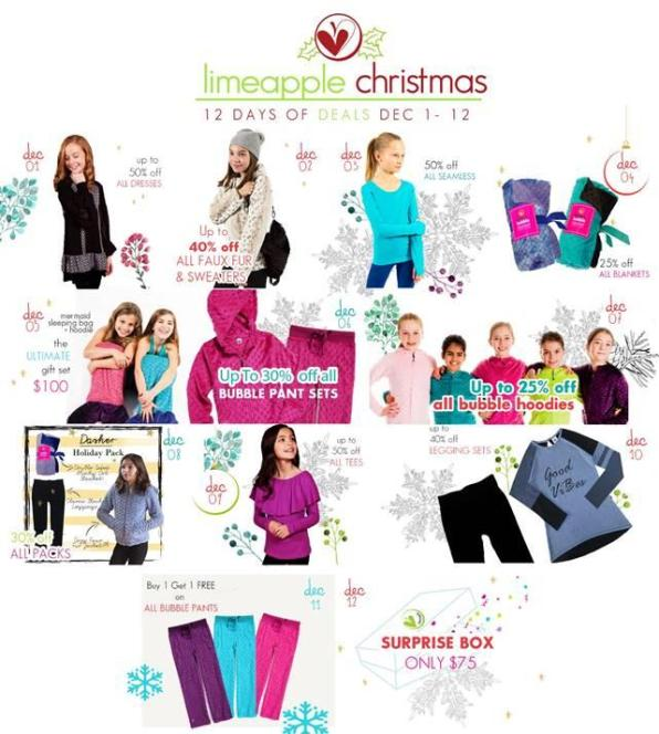 Limeapple Christmas 12 Days Of Deals
