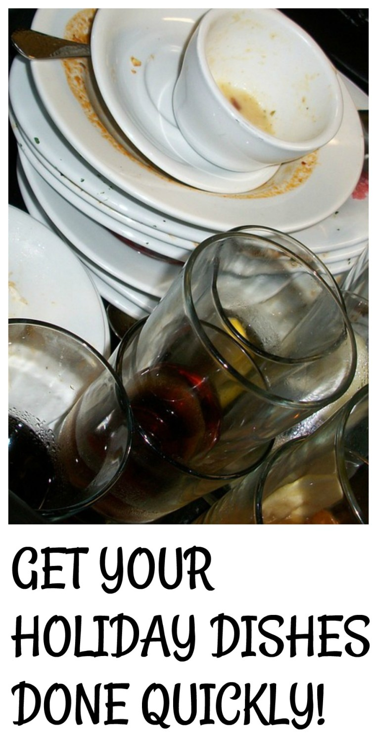 Holiday Dishes Clean, Quickly