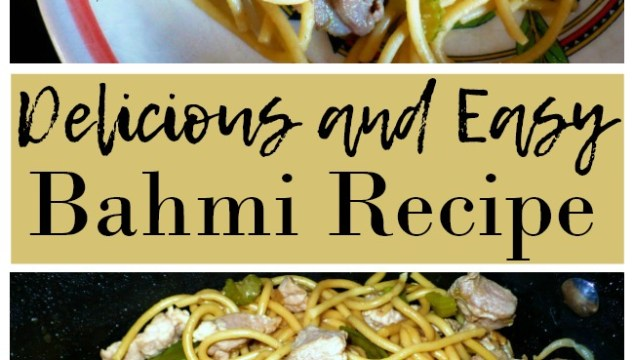 This delicious and easy Bahmi Recipe is a stir fry noodle dish that's sure to be a hit with the whole family!