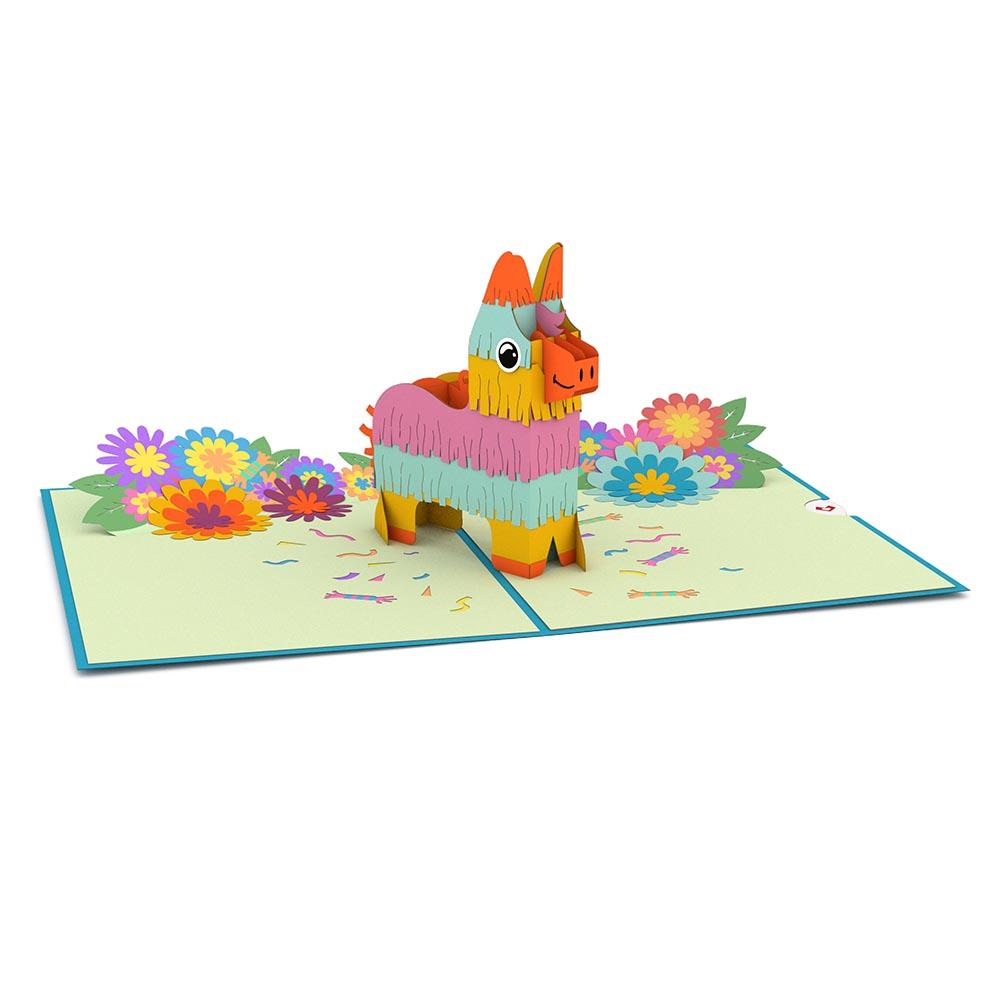 popup birthday card pinata