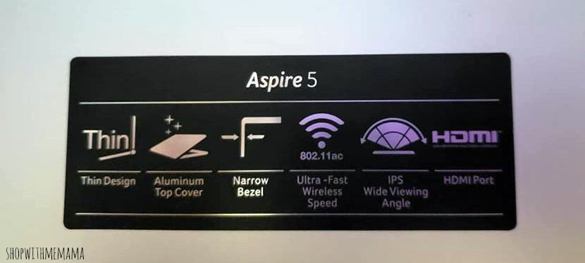 Acer Aspire 5 features