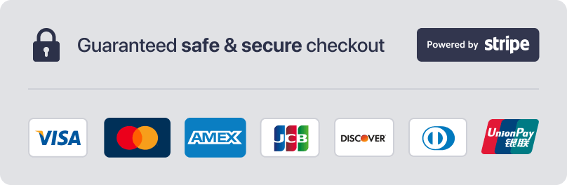 Safe & Secure Payments by Stripe