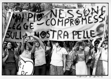Corteo femminista  Anni '70