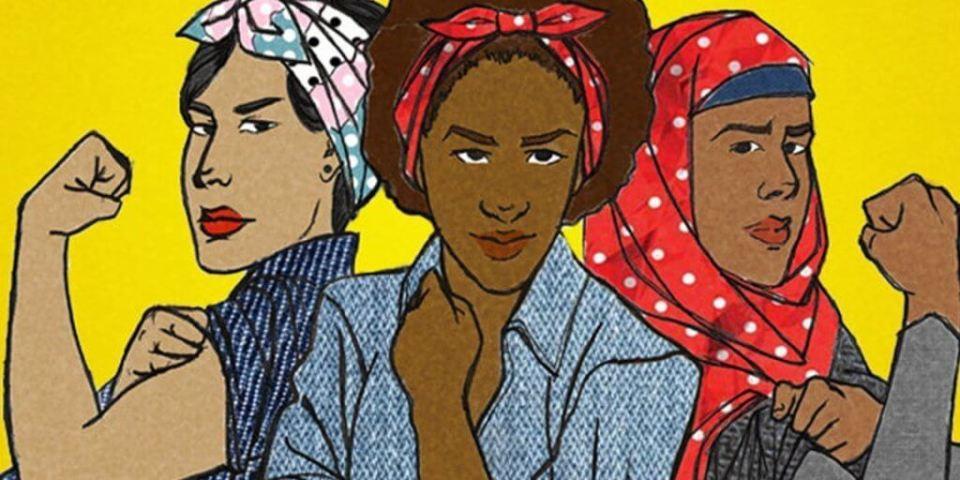 Parte di una locandina celebrativa di un femminismo inclusivo
