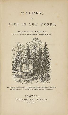 Copertina originale della prima edizione del celebre saggio di Thoreau
