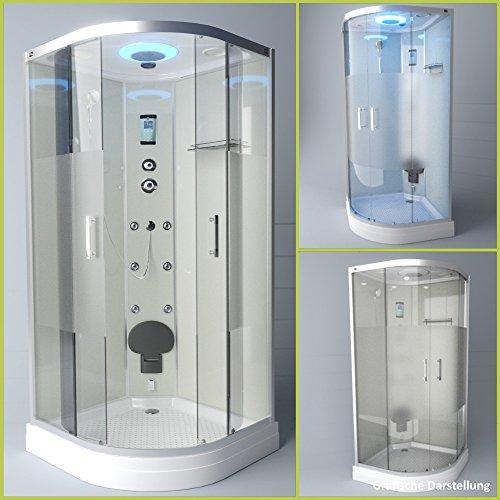 TroniTechnik Dampfdusche Duschtempel Duschkabine Dusche Eckdusche Komplettdusche S100XB2HG02 100x100