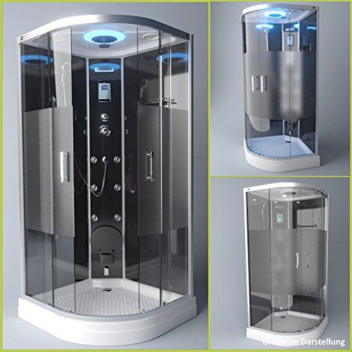 TroniTechnik Dampfdusche Duschtempel Duschkabine Dusche Eckdusche Komplettdusche S100XE1HG01 100x100