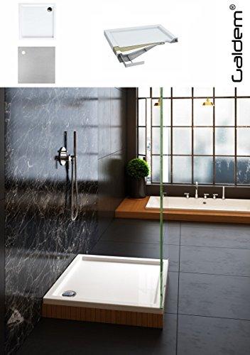 Galdem Duschwanne Bodeneben Bodengleich Rechteck Quadrat Viertelkreis Eckig Flach Wanne Hochwertige Duschtasse aus Acryl für Duschabtrennung Duschkabine