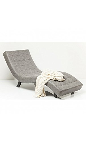 Kare Design–Sessel Design Effekt Leder grau Needlestripe Snake Slumber Stone
