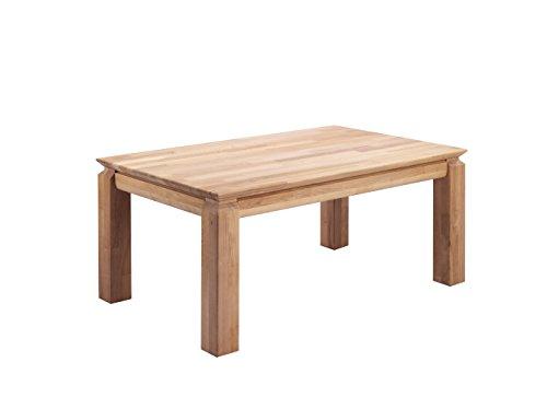 CAVADORE Couchtisch PATRICK / Sofatisch in Massivholz Eiche in Parkettoptik / Eichenholz natur geölt / 105 x 64,5 x 45,5 cm (L x B x H)