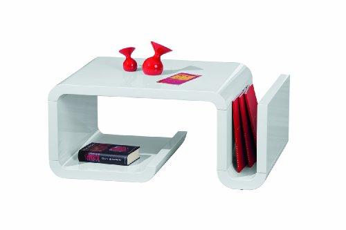 Inter Link 20800820 Couchtisch weiß hochglanz Wohnzimmertisch Wohnzimmer Tisch Design modern 90x60