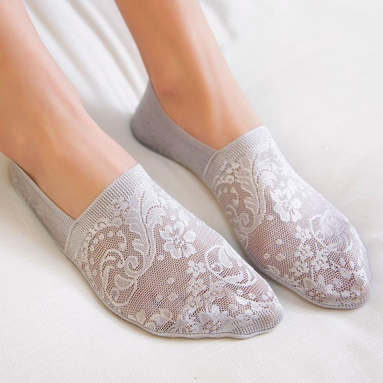 Women's Short Flowers Patterned Socks
