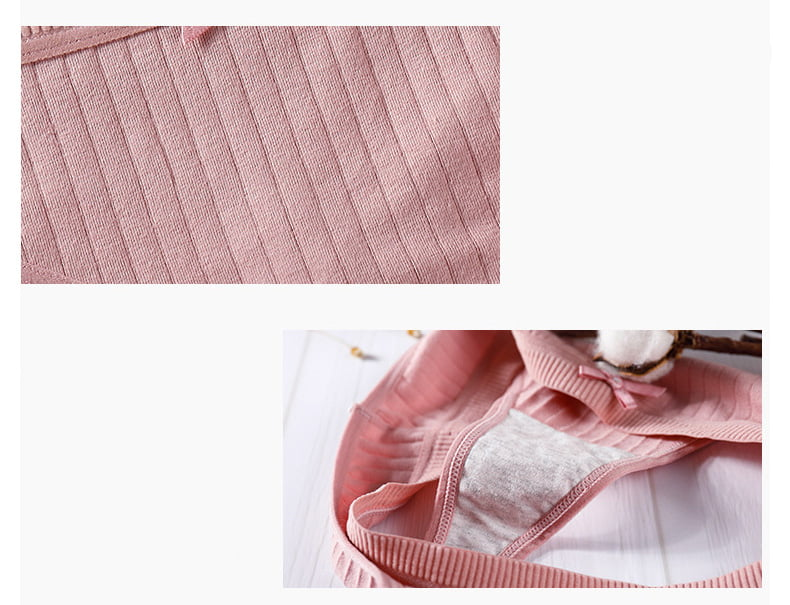 Set of Women's Cotton Panties in Multiple Colors
