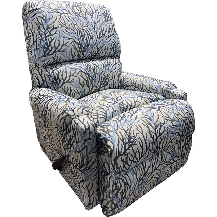 blue taupe seaweed recliner chair