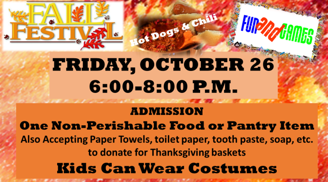 Fall Festival Is Coming!