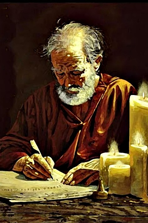 The Apostle Paul Writing Romans