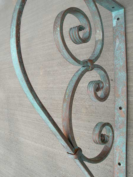 Large Wrought Iron Bracket Shoreline Ornamental Iron