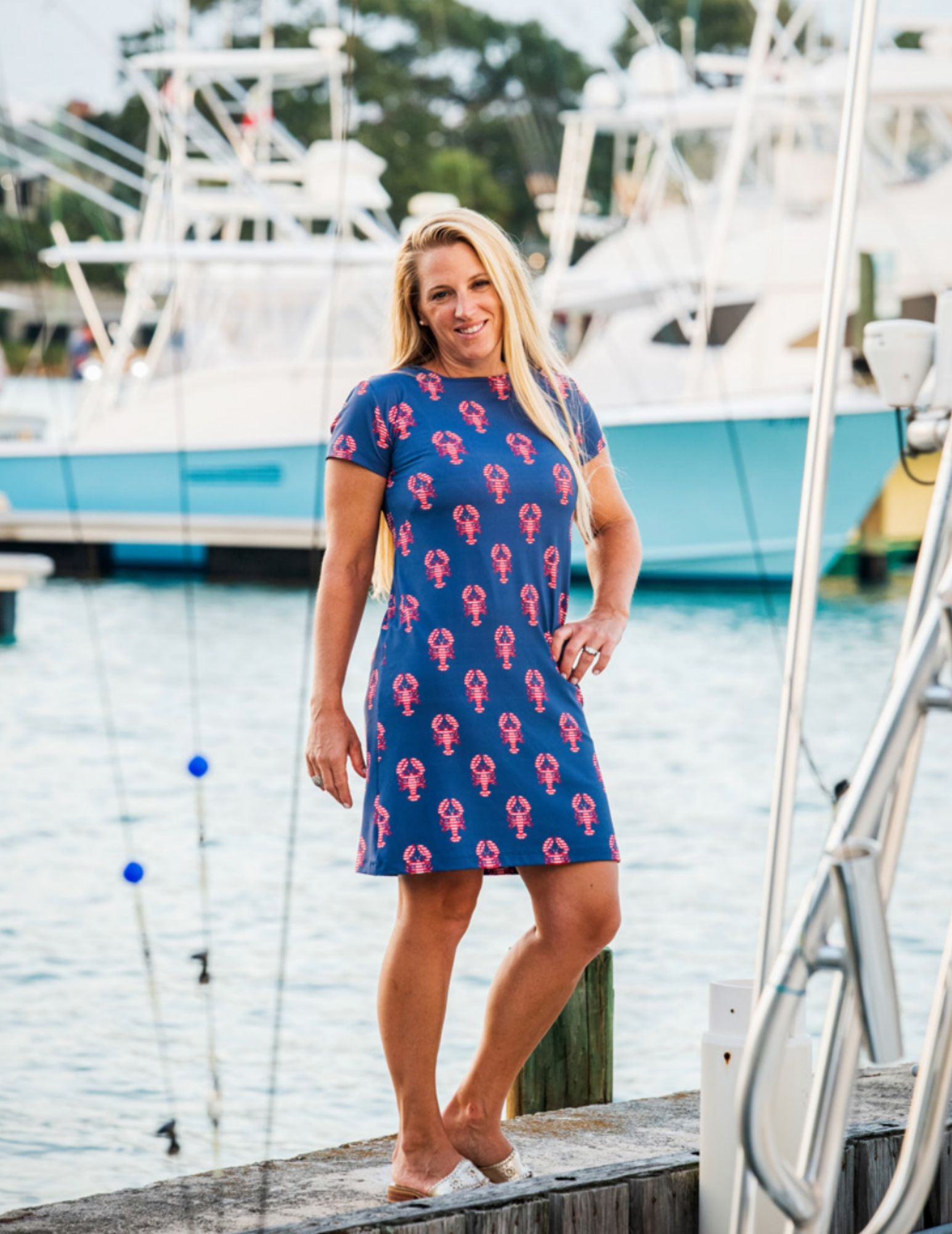 Summer Lovin' in the Marina Lobsters Dress from Sailor-Sailor