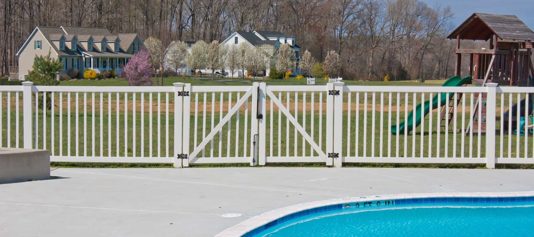 Whetstone Vinyl Pool Fence Shoreline Vinyl Systems
