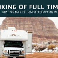 Considering RVing Full Time? Here's Some Insight!