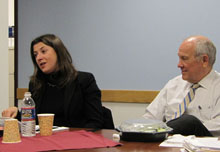 Daphne Benoit and Shorenstein Center Director Alex S. Jones.