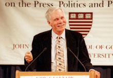 Ted Turner speaks at the Forum.