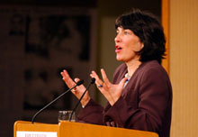 Christiane Amanpour gives keynote address at the Forum.