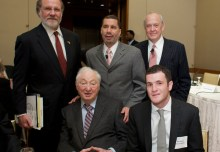Gov. Corzine, Walter H. Shorenstein, Gov. Paterson, Alex S. Jones, and Brandon Shorenstein